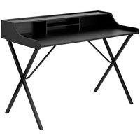 Flash Furniture NAN-2124-GG Black Laminate Computer Desk with Top Shelf - 47 inch x 24 inch x 35 inch