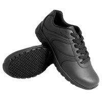 Genuine Grip 130 Women's Size 8.5 Wide Width Black Leather Athletic Plain Toe Non Slip Shoe