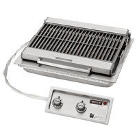Wells B-406 24 inch Built-In Electric Charbroiler with Two Control Knobs - 240V, 5400W
