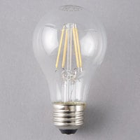 Satco S9562 6.5 Watt (60 Watt Equivalent) Clear Warm White LED Light Bulb - 120V (A19)