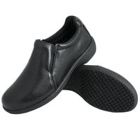 Genuine Grip 410 Women's Size 6.5 Wide Width Black Ultra Light Non Slip Slip-On Leather Shoe