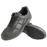 Genuine Grip 330 Women's Size 5.5 Wide Width Black Leather Casual Athletic Non Slip Shoe