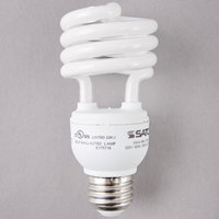 Satco S7225 18 Watt (75 Watt Equivalent) Cool White Mini Spiral Compact Fluorescent Light Bulb - 120V (T2)