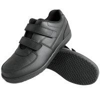 Genuine Grip 230 Women's Size 6.5 Wide Width Black Leather Hook and Loop Closure Non Slip Shoe