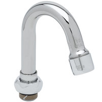 T&S 131X Swivel Gooseneck Faucet Nozzle - 4 3/4 inch High with 2 13/16 inch Spread