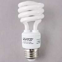 Satco S7217 13 Watt (60 Watt Equivalent) Warm White Mini Spiral Compact Fluorescent Light Bulb - 120V (T2)