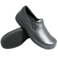 Genuine Grip 470 Women's Size 11 Wide Width Black Ultra Light Non Slip Slip-On Leather Shoe