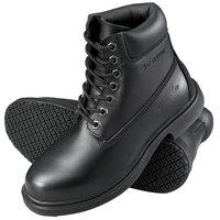 Genuine Grip 760 Women's Size 8 Wide Width Black Leather Waterproof Non Slip Boot