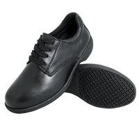 Genuine Grip 420 Women's Size 9.5 Wide Width Black Full Grain Leather Tie Non Slip Shoe