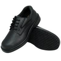 Genuine Grip 720 Women's Size 7.5 Wide Width Black Leather Comfort Oxford Non Slip Shoe