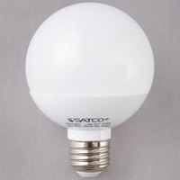Satco S9200 6 Watt (40 Watt Equivalent) Frosted Warm White LED Globe Light Bulb - 120V (G25)