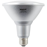 Satco S9455 18 Watt (100 Watt Equivalent) Warm White Indoor/Outdoor LED Reflector Light Bulb - 120V (PAR38)