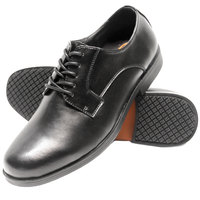 Genuine Grip 9540 Men's Size 10 Medium Width Black Oxford Non Slip Dress Shoe