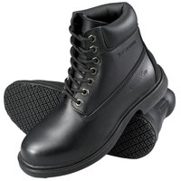 Genuine Grip 760 Women's Size 7.5 Wide Width Black Leather Waterproof Non Slip Boot