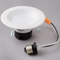 Satco S9461 9 Watt (45 Watt Equivalent) Warm White LED Downlight Retrofit 4'' Light Fixture - 120V