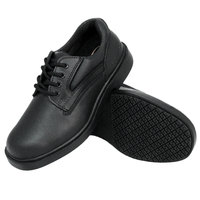Genuine Grip 710 Women's Size 10.5 Medium Width Black Oxford Steel Toe Non Slip Shoe