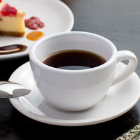 Acopa 7 oz. Bright White Rolled Edge China Round Cup - 36/Case