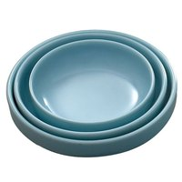 Thunder Group 1905 Blue Jade 8 oz. Round Melamine Flat Bowl - 12/Case