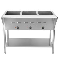 ServIt EST-5WE Five Pan Open Well Electric Steam Table with Undershelf - 208/240V, 3750W