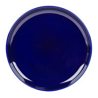 Tuxton BCA-1315 DuraTux 13 1/8 inch Cobalt Blue China Pizza Serving Plate - 6/Case