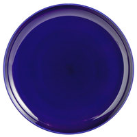 Tuxton BCA-1315 13 1/8 inch Cobalt Blue China Pizza Serving Plate - 6/Case