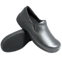 Genuine Grip 4700 Men's Size 12 Wide Width Black Ultra Light Non Slip Slip-On Leather Shoe