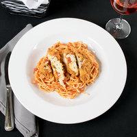 Core 16 oz. Bright White Wide Rim Rolled Edge Rim China Soup and Pasta Bowl - 12/Case