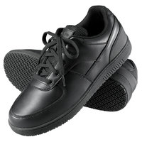 Genuine Grip 2010 Men's Size 9 Wide Width Black Leather Sport Classic Non Slip Shoe