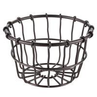 American Metalcraft WBBS Bronze Round Wire Basket - 5 inch x 3 1/8 inch