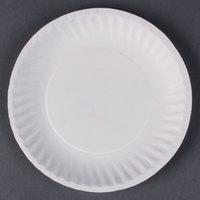 6 inch White Economy Paper Plate - 1000 / Case