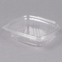 Genpak AD08 5 3/8 inch x 4 1/2 inch x 1 1/2 inch 8 oz. Clear Hinged Deli Container - 100/Pack