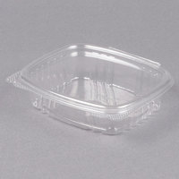 Genpak AD08 8 oz. Clear Hinged Deli Container - 100/Pack