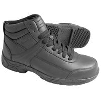 Genuine Grip 1021 Men's Size 4 Wide Width Black Steel Toe Non Slip Leather Boot