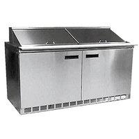Delfield 4464N-16 64 inch 2 Door Refrigerated Sandwich Prep Table