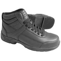 Genuine Grip 1021 Men's Size 10 Wide Width Black Steel Toe Non Slip Leather Boot