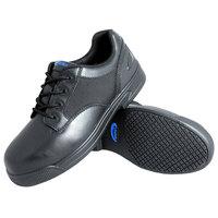 Genuine Grip 5040 Apache Men's Size 4 Medium Width Oxford Black Composite Toe Non Slip Full Grain Leather Shoe