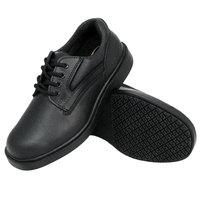 Genuine Grip 7110 Men's Size 8 Wide Width Black Oxford Steel Toe Non Slip Leather Shoe