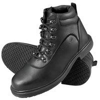 Genuine Grip 7130 Men's Size 16 Medium Width Black Steel Toe Non Slip Leather Boot with Zipper Lock