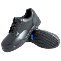 Genuine Grip 5040 Apache Women's Size 7 Medium Width Oxford Black Composite Toe Non Slip Full Grain Leather Shoe
