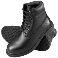 Genuine Grip 7161 Men's Size 10 Wide Width Black Waterproof Steel Toe Non Slip Leather Boot