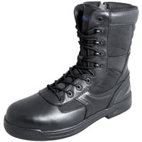 Genuine Grip 5080 Skynight Men's Size 4 Medium Width Black Composite Toe Non Slip Full Grain Leather Tactical Boot with Zipper Lock
