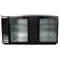 Beverage-Air BB68HC-1-G-B 69 inch Back Bar Refrigerator with 2 Glass Doors 115V