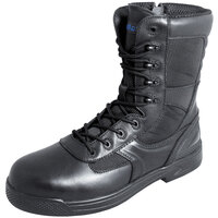 Genuine Grip 5080 Skynight Men's Size 11 Medium Width Black Composite Toe Non Slip Full Grain Leather Tactical Boot with Zipper Lock