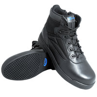 Genuine Grip 5060 Thunderbolt Women's Size 6.5 Medium Width Black Composite Toe Non Slip Full Grain Leather Tactical Boot with Zipper Lock