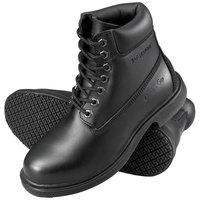 Genuine Grip 7161 Men's Size 9.5 Wide Width Black Waterproof Steel Toe Non Slip Leather Boot