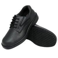 Genuine Grip 7110 Men's Size 11 Wide Width Black Oxford Steel Toe Non Slip Leather Shoe