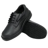 Genuine Grip 7110 Men's Size 7.5 Wide Width Black Oxford Steel Toe Non Slip Leather Shoe
