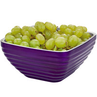 Vollrath 4763565 Double Wall Square Beehive 5.2 Qt. Serving Bowl - Passion Purple