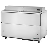 True TMC-58-S-HC 58 inch One Sided Milk Cooler with Stainless Steel Exterior and Aluminum Interior