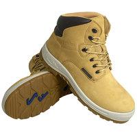 Genuine Grip 6052 Poseidon Men's Size 11.5 Medium Width Wheat Waterproof Composite Toe Non Slip Full Grain Leather Boot